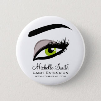 Eye long lashes Lash Extension company branding 6 Cm Round Badge