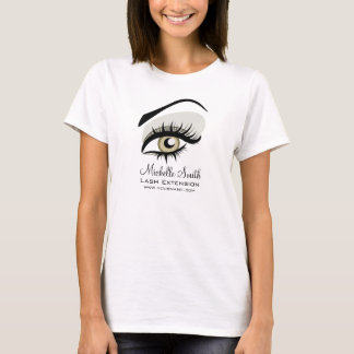 Eye long lashes Lash Extension company branding T-Shirt