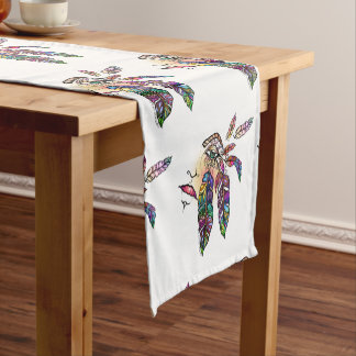 EYE Love FEATHERS Fantasy Art Short Table Runner