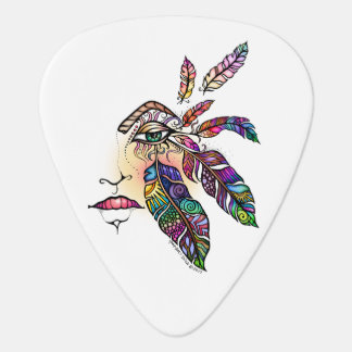 EYE Love FEATHERS Guitar Pick
