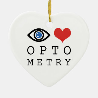Eye Love Heart Optometry - Optometrist Eye Chart Christmas Ornament