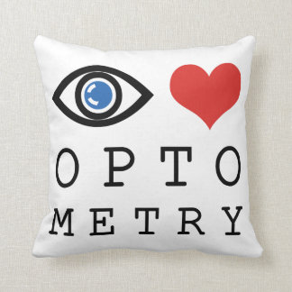 Eye Love Heart Optometry - Optometrist Eye Chart Throw Pillow