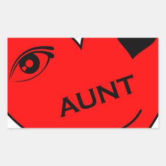 Eye Love My Aunt Rectangular Sticker