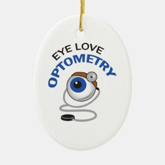 EYE LOVE OPTOMETRY CHRISTMAS ORNAMENT