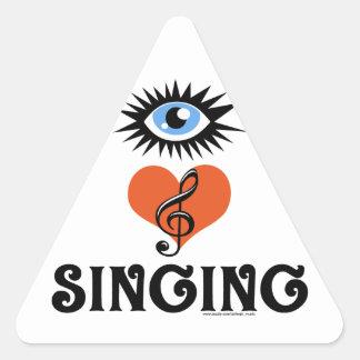Eye Love Singing gifts Sticker