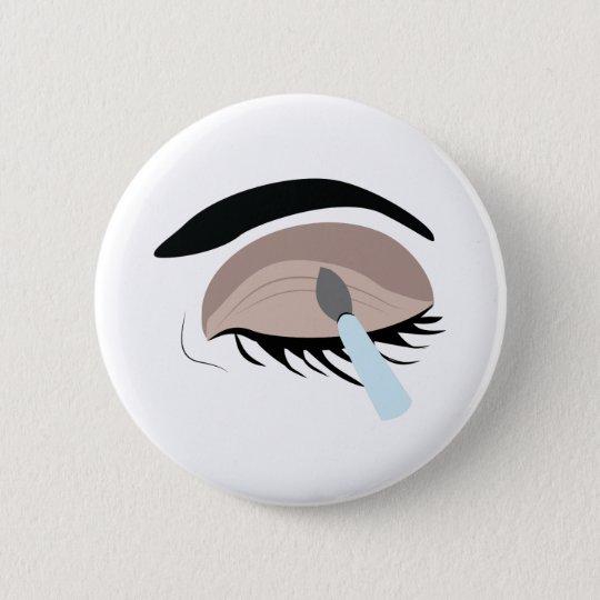 Eye Makeup 6 Cm Round Badge