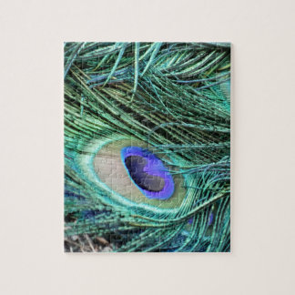 Eye Of A Peacock Feather Jigsaw Puzzle