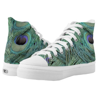 Eye Of A Peafowl Feather High Tops