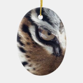 Eye of a Tiger Christmas Ornament