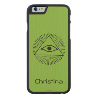 Eye Of God Carved Maple iPhone 6 Case