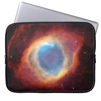 Eye of God Helix Nebula Cosmic Clouds Stars Laptop Sleeve