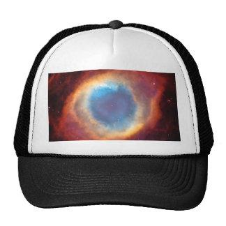 Eye of God Helix Nebula Red Blue Space Photo Cap