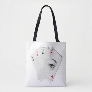 eye of hearts tote bag