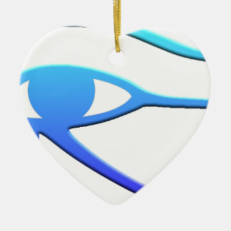 Eye of Horus Ceramic Heart Decoration