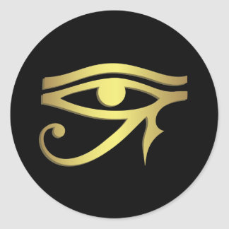 Eye of horus classic round sticker