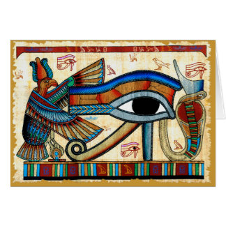 EYE OF HORUS Collection Greeting Card