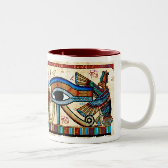 EYE OF HORUS Collection Two-Tone Coffee Mug