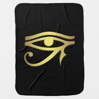 Eye of horus Egyptian symbol baby Receiving Blankets