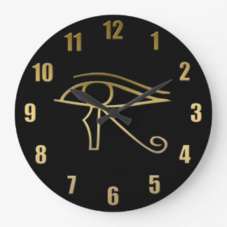 Eye of Horus Egyptian symbol Large Clock