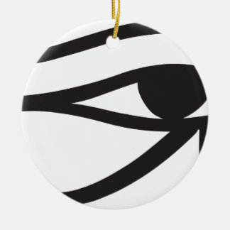Eye Of Horus Egyptian Symbol Round Ceramic Decoration