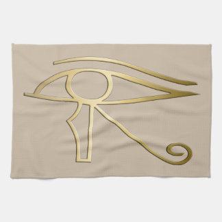 Eye of Horus Egyptian symbol Tea Towel