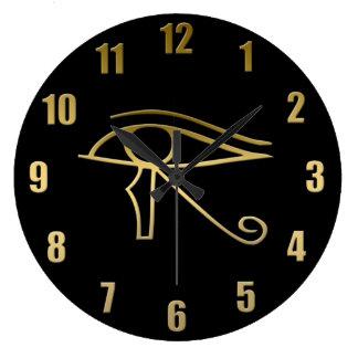 Eye of Horus Egyptian symbol Wallclocks