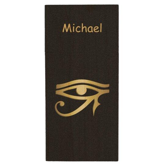 Eye of horus Egyptian symbol Wood USB Flash