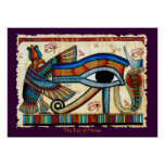 EYE OF HORUS Egyptian Wadjet Art Poster