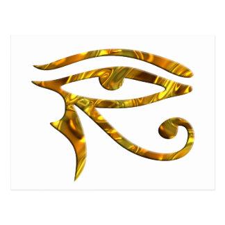 Eye Of Horus - GOLD Postcard