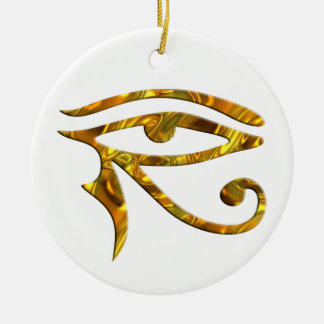 Eye Of Horus - GOLD Round Ceramic Decoration