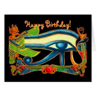 Eye Of Horus good luck charm birthday card