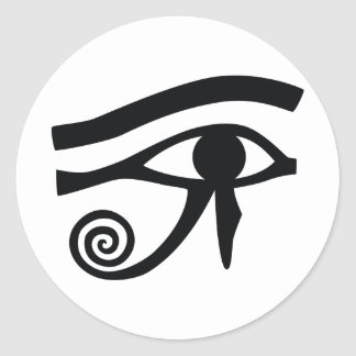 Eye of Horus Hieroglyphic Classic Round Sticker