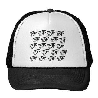 Eye of Horus Hieroglyphics Mesh Hats