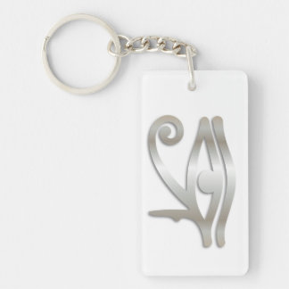 Eye Of Horus & If Found Contact Info-Key Chain #29 Double-Sided Rectangular Acrylic Key Ring