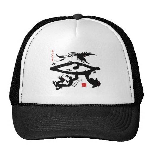 Eye of Horus Japanese Style Mesh Hat