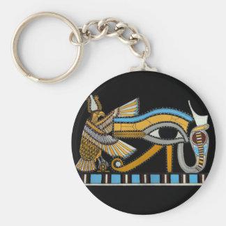 Eye of Horus Basic Round Button Key Ring