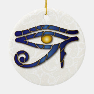 Eye Of Horus Mosaic - Deep Blue 2 - Ornament