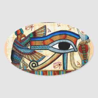 EYE OF HORUS Mystical Egyptian Art Collection Oval Sticker