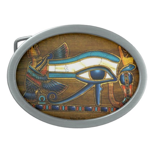 Eye of Horus Oval Belt Buckle