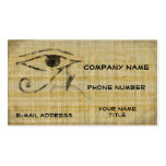 Eye of Horus - Papyrus Double-Sided Standard Business Cards (Pack Of 100)