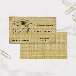 Eye of Horus - Papyrus Business Card
