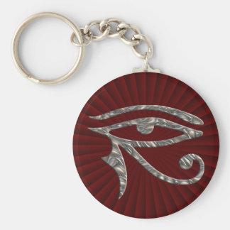 Eye Of Horus - SILVER Key Ring