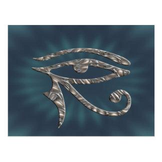 Eye Of Horus - SILVER Postcard