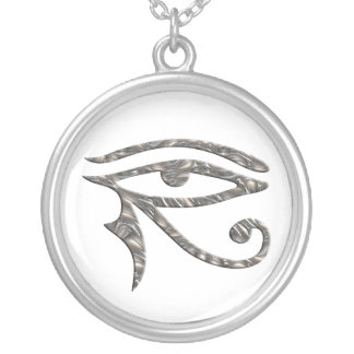 Eye Of Horus - SILVER Silver Plated Necklace