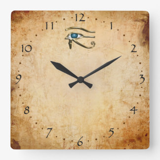Eye Of Horus Square Wall Clock