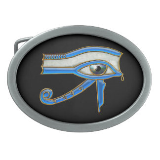 Eye of Horus Wadjet Ancient Egyptian Art Buckle Oval Belt Buckle