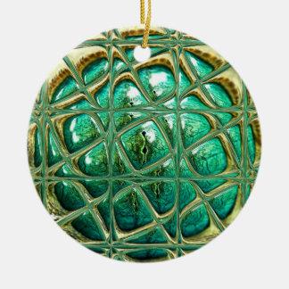 Eye of lizard christmas ornament