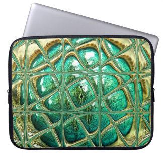 Eye of lizard laptop computer sleeve