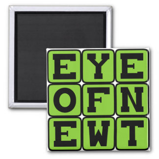 Eye of Newt Witch Ingredient Fridge Magnet