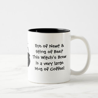 Eye of Newt.. Witch's Brew... Coffee Two-Tone Coffee Mug
